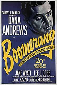 Boomerang, filmed in Connecticut, Maine and New Hampshire.