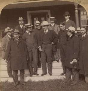 Teddy Roosevelt in New Hampshire at Corbin Park in 1902