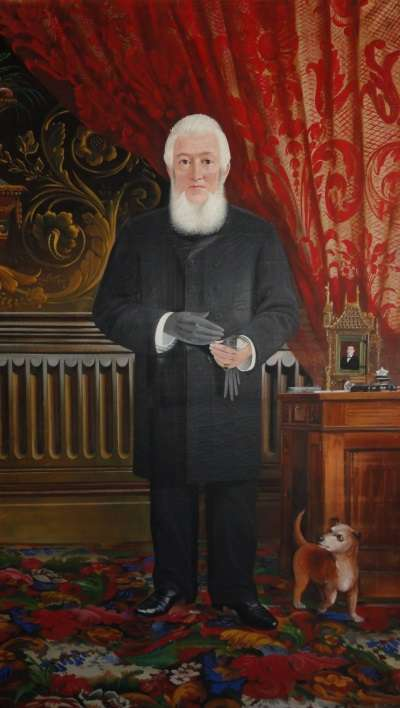 Portrait of Columbus Smith displayed in 2012 at the Henry Sheldon Museum of Vermont History