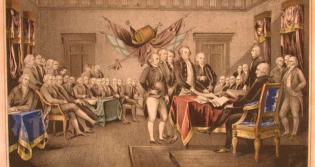 Declaration of Independence, John Turnbull, Connecticut. From the Connecticut Historical Society