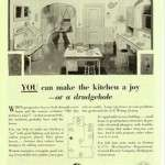 GE Ad from the 1930s: Don't let your kitchen be a Drudgehole.