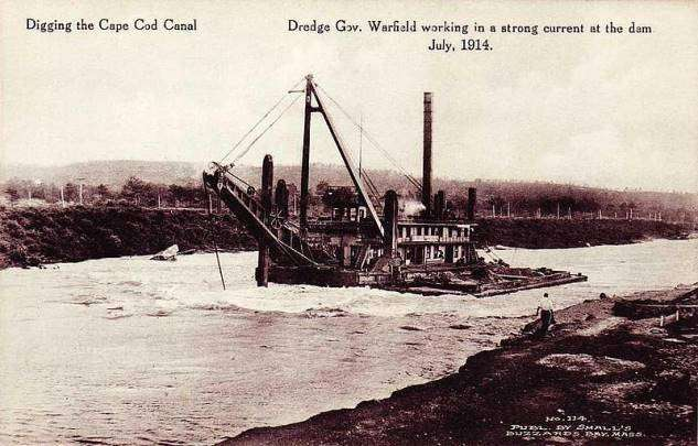 Cape Cod Canal under construction in 1914
