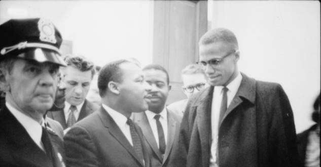 Malcolm x and Martin Luther King
