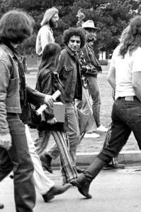 Timothy Leary Abbie Hoffman visiting the University of Oklahoma 1969