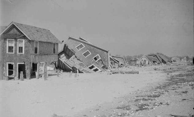 Houses destroyed by the Hurricane of 1938. (Boston Public LIbrary, Leslie Jones Collection)