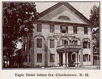 Postcard showing the Eagle Hotel.