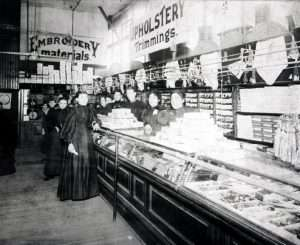 Interior of A.I. Namm & Sons, 1898. Brooklyn Historical Society
