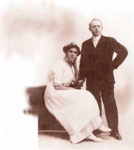 Bertha and Henry Noon on their wedding day.