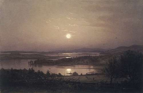 Lake Winnipesaukee by William Trost Richards. Photo courtesy Brooklyn Museum.