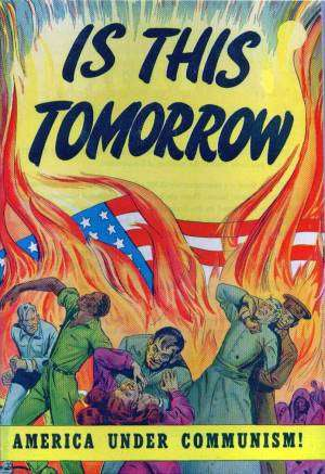 Propaganda cartoon used to fuel Red Scare.