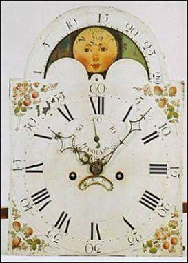Clock face from a Stephen Hasham clock.