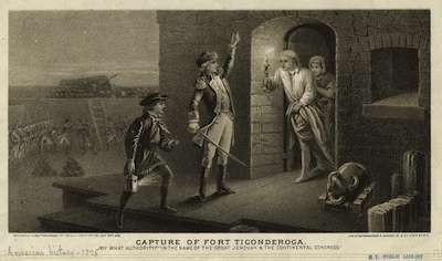 Ethan Allen capturing Fort Ticonderoga