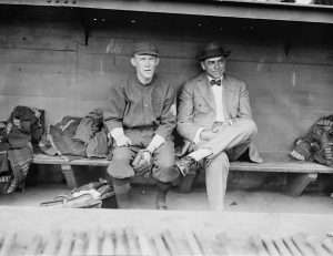 1914 Boston Braves manager George Stallings and second baseman Johnny Evers. Photo courtesy the Library of Congress.