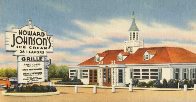 Howard Johnson MA postcard