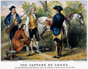 John Andre Captured in Tarrytown (Currier & Ives, Library of Congress)