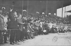 The Royal Rooters were given special seats along the third base line for the 1903 champsionship series.