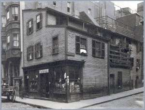 House of John Tileston, master of the North Writing School on North Bennet Street in Boston's North End. (Boston Public Library)