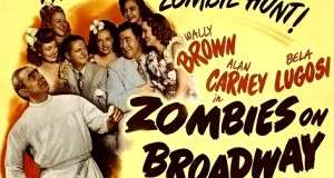 Movie poster for the Brown and Carney compedy duo film Zombies on Broadway.