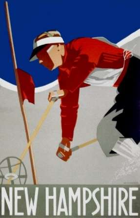New England Skiing poster