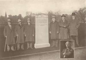 The Oneida Club dedicates a monument to the game on Boston Common, 1925.