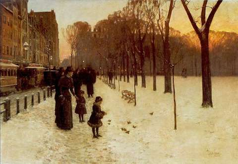Boston Common at Dusk by Childe Hassam, member of the Old Lyme Art Colony