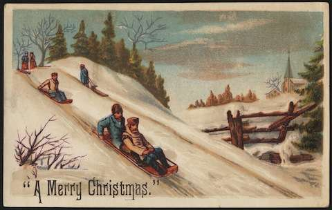 Christmas card courtesy Boston Public Library.