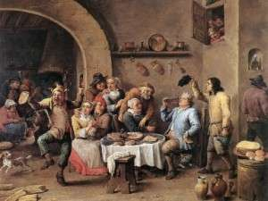 Twelfthnight (The King Drinks), by David Teniers the Younger (1634-1640)