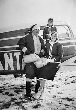 Flying Santas Ed, Dolly and Anna-Myrle Snow
