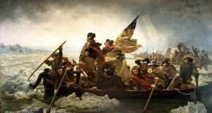 Glover's Regiment crossing the Delaware with Gen. Washington
