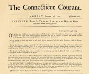 An early edition of the Connecticut Courant.