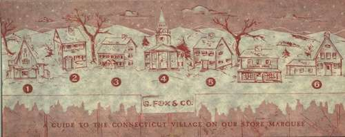 Guide to G. Fox's Connecticut Christmas Village, 1959.
