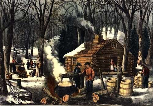 Currier & Ives, Maple Sugaring