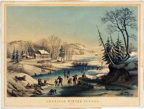 Currier & Ives print by Fanny Palmer