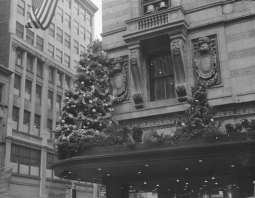 Filene's Christmas decorations, 1950. Photo courtesy Boston Public Library, Leslie Jones Collection.