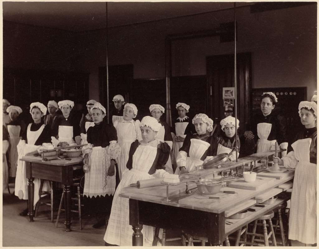 19th-century cooking class in Boston, courtesy Boston Public Library
