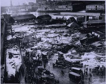 The aftermath of the molasses disaster