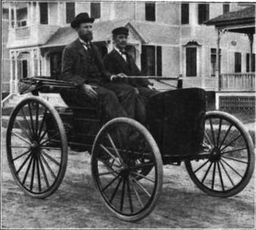 Charles and Frank Duryea and their motorcar