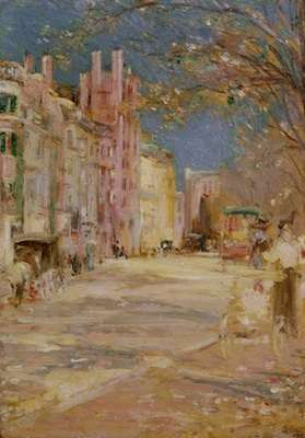 Boston Street Scene by Edward Bannister