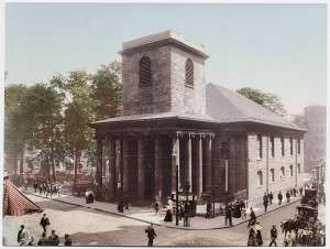 King's Chapel, about 1900