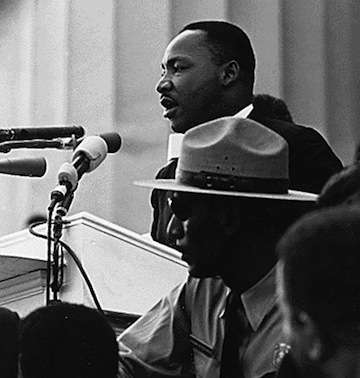Martin Luther King delivers 'I Have A Dream' speech
