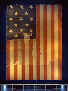 Old Glory, on display at the Smithsonian