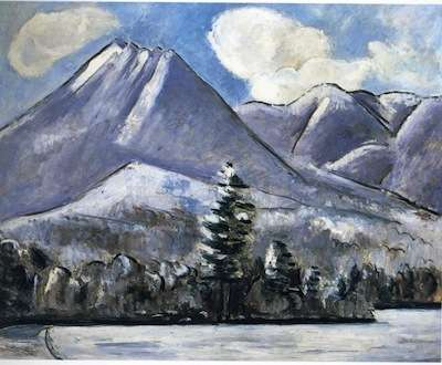 Mount Katahdin Maine First Snow by Marsden Hartley