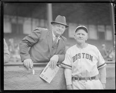 Casey Stengel, manager of the Boston Braves. Photo courtesy Boston Public Library, Leslie Jones collection.