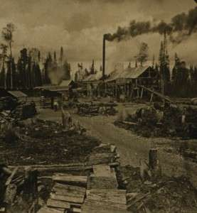 New Hampshire logging camp