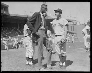 Bill Russell at Fenway Park in 1962. Photo courtesy Boston Public Library, Leslie Jones Collection.