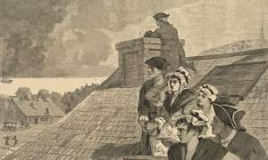Watching the Fight from Copps Hill by Winslow Homer (Appeared in Harper's Weekly, Boston Public Library)