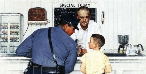 norman rockwell in vermont the runaway