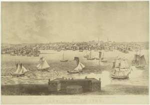 View of Newport, 1730. Courtesy Library of Congress.