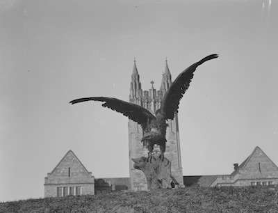 The Boston College Eagle, 1954. Photo courtesy Boston Public Library, Leslie Jones collection.