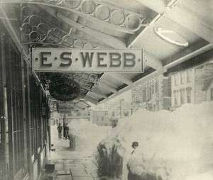 Store of E.S.Webb in Stamford, Stamford Historical Socirty
